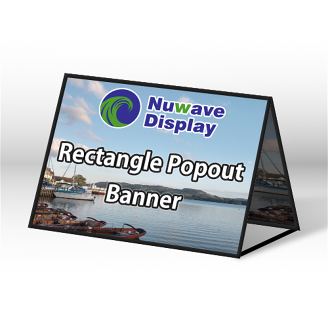 Square Ended Popout Banner